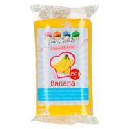 FunCakes sockerpasta - Gul med Banansmak 250g