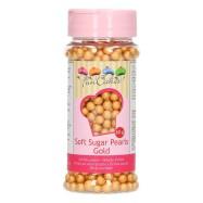 FunCakes strössel Soft Pearls gold