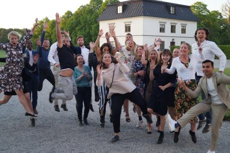 Vuoden 2018 osallistujia Rosersbergin linnassa Sigtunassa.