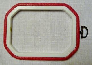 Flexiram åttakantig 13,5 cm x 10 cm - Röd