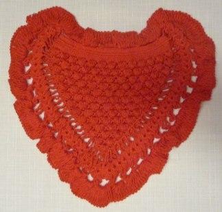 Virkat kuddfodral Hjärta - Röd