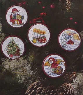 Jul broderier 5 tavlor  - Jul broderier 5 tavlor