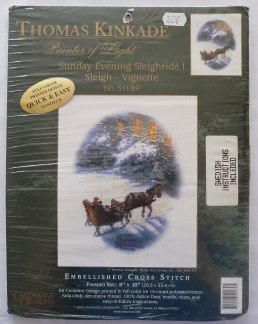 Thomas Kinkade Häst och släde - Thomas Kinkade Häst och släde