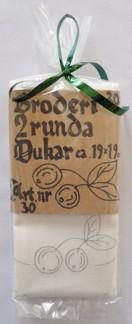 Dukar 2 st innehåller ej garn  - Ritat broderi art nr 30