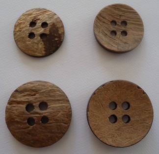 Kokosnötknapp 38 mm och 47 mm - Kokosnötknapp 38 mm