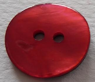 Pärlemorknapp 15 mm & 18 mm 2 håls - Pärlemorknapp 15 mm