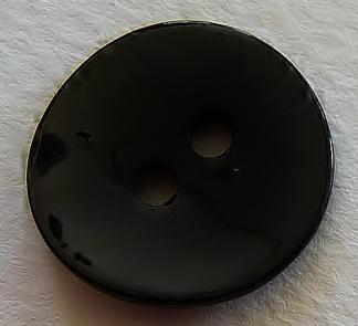 Pärlemorknapp 15 mm & 18 mm 2 håls - Pärlemorknapp 15 mm svart