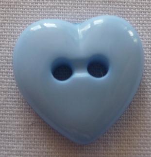 Knapp Hjärta - Ljusblå