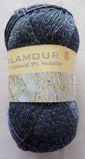 Glamour 50g - Glamour blå/silver 55