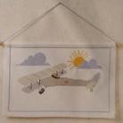 Bonad Flygplan med träkäpp