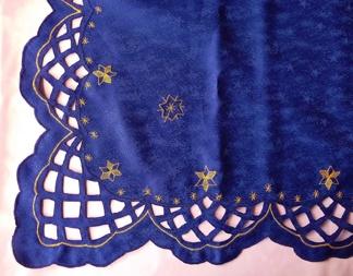 Julduk blå med stjärnor 7067 - Julduk blå med stjärnor 7067