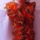 Volanghalsduk orange/svart med glitter