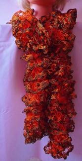 Volanghalsduk orange/svart med glitter - Volanghalsduk orange/svart med glitter
