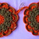 Grytlappar / Pannlappar 2 st Grön/orange