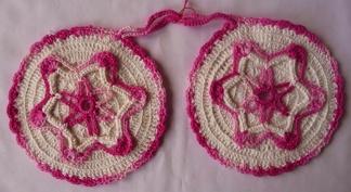 Grytlappar / Pannlappar 2 st Stjärna rosa - Grytlappar / Pannlappar 2 st Stjärna rosa