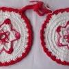 Grytlappar / Pannlappar 2 st Stjärna röd - Grytlappar / Pannlappar 2 st Stjärna röd