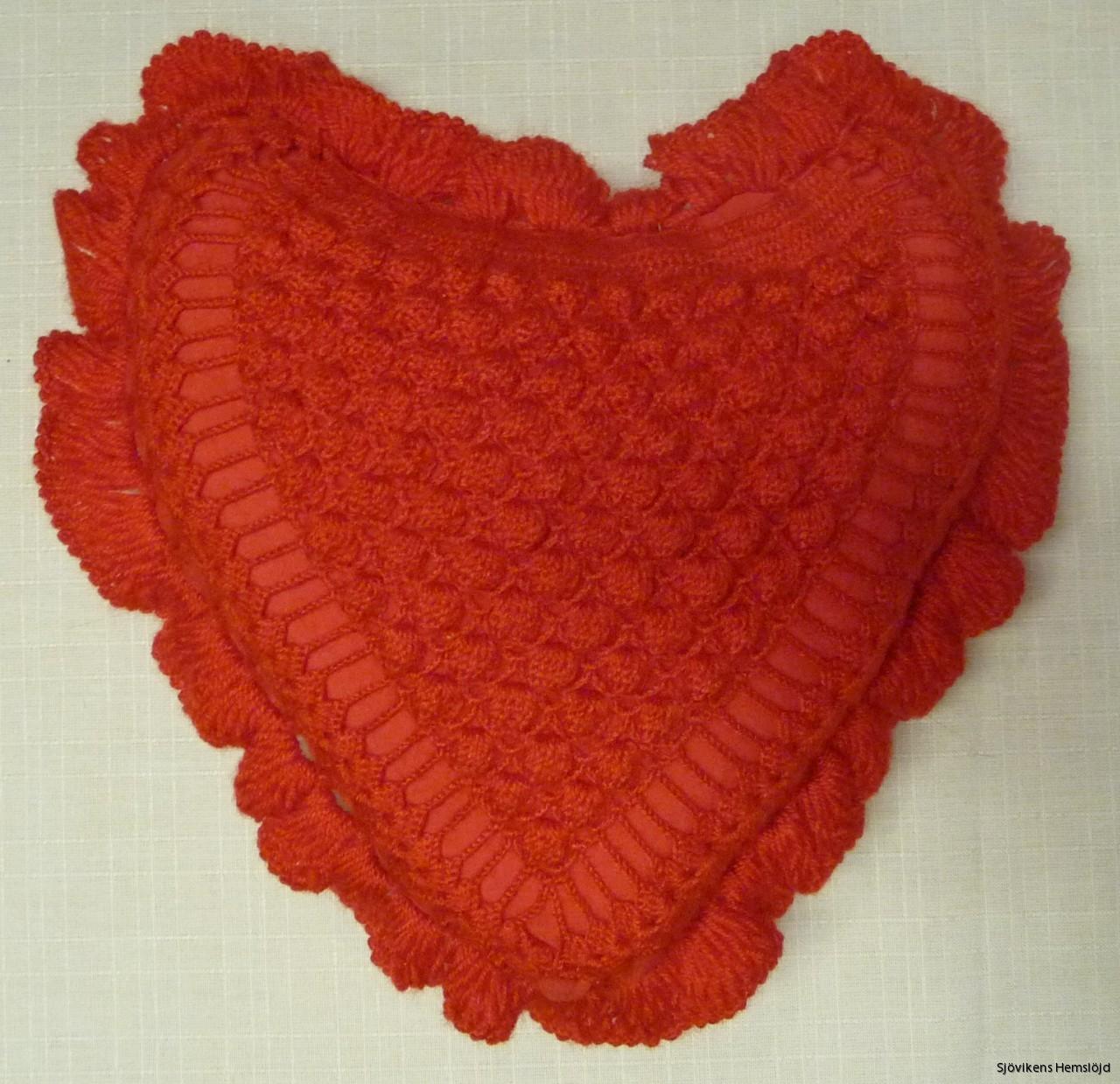 Kudde hjärta röd fyllning