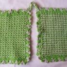 Grytlappar / Pannlappar 2 st Grön