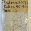 Dukar 3 st innehåller ej garn - Ritat broderi art nr 54