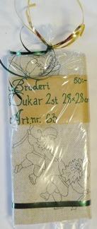 Dukar 2 st innehåller ej garn - Ritat broderi art nr 63
