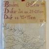 Duk och Löpare 2 st innehåller ej garn - Ritat broderi art nr 49