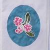 Sidenmåleri kort med kuvert - Sidenmåleri 3 blommor