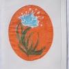 Sidenmåleri kort med kuvert - Sidenmåleri orange