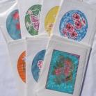Sidenmåleri kort med kuvert