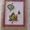 Broderade kort - Löv