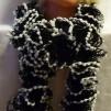 Volanghalsduk svart och vit - Volanghalsduk svart vit