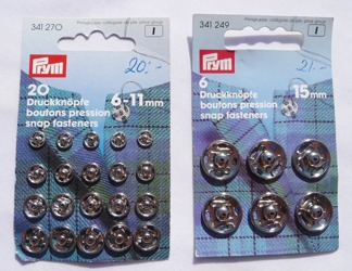 Tryck knappar - Storlek 6 - 11 mm 20 st