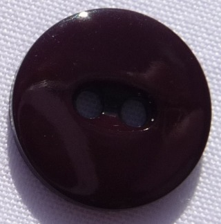 Plastknapp 12 mm - Plastknapp 12 mm brun