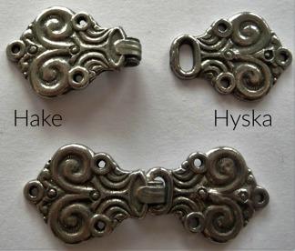Tenn Hyska och Hake 35 mm - tennhyska/hake 12966/67