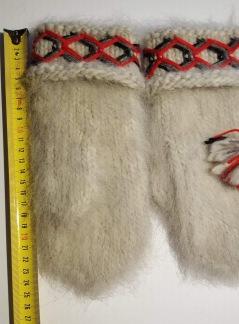 Vantar i lovikkagarn Ca 22 cm - vantar ljusgrå nr 1