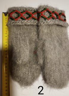 Vantar i lovikkagarn ca 24 cm - vante mellangrå nr 2