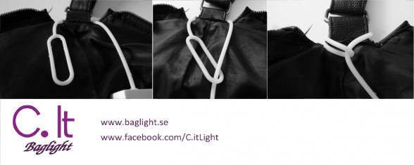Baglight är en smart väsklampa till mörka väskor. Perfekt som present till mamma eller flickvännen.
