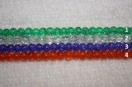 1. Grön  2. Transperanst  3. Blålila  4. Orange