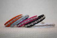 Produktnamn LIMA, bredd ca 0.9 cm. Armbandet går att få i alla skinnfärger som finns i våra färgkartor. I beställningsformuläret bestämmer du även hur långt armbandet ska vara. Pris:290SEK
