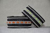 Produktnamn MILAN, bredd ca 2,7cm. Armbandet går att få i alla skinnfräger som finns i våra färgkartor. I beställningsformuläret bestämmer du hur långt armbandet ska vara, färg på botten skinn samt färg på inre skinnband. Pris: 480SEK