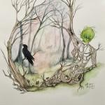 MIN SKOG akvarell 40x50 cm 4800:-