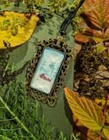 VINTERLANDSKAP  akvarell halsband 300:-