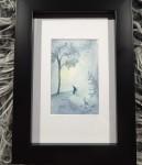 TOMTE akvarell 10x15 cm 500:-