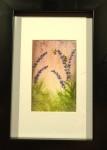 HUMLA LILA akvarell 10x15 cm 500:-