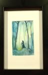 BLÅ akvarell 10x15 cm 500:-