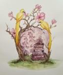 MOR akvarell 40x50 cm 3800:-