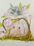 VIOLETTA akvarell 20x30 cm 950:-