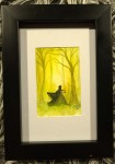 GUL akvarell 10x15 cm 500:-