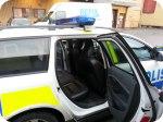 Socialsanering av baksäte på polisbil