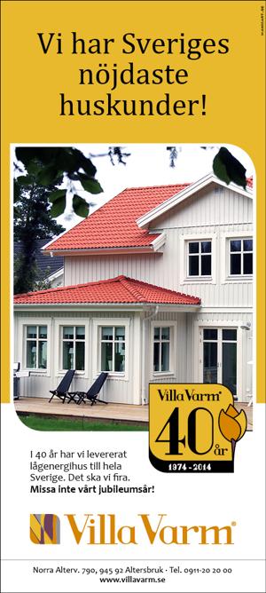 Villa Varm i Norrbottens Affärer