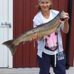 14-årige Kevin Brodén med sin första laxfångst! Den vägde 5,6 kg och var 84 cm lång . Fångad 30/7.